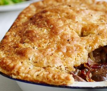 spoiltpig - Bacon recipe - Bacon and liver suet pie