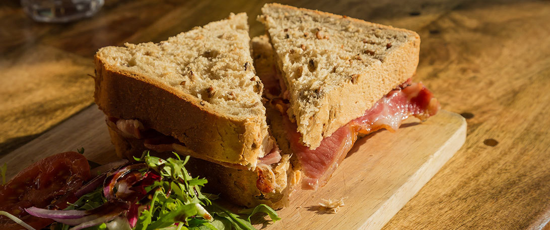 spoiltpig - Bacon recipe - Bacon butty with a Caribbean twist