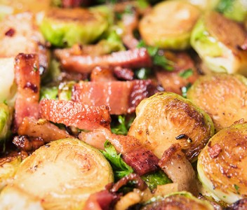 spoiltpig - Bacon recipe - Brussel sprouts with bacon and chestnuts