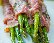 spoiltpig - Featured recipe - Bacon wrapped asparagus