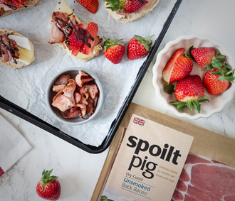 spoiltpig - Bacon recipe - Cheese chocolate bacon bruschetta