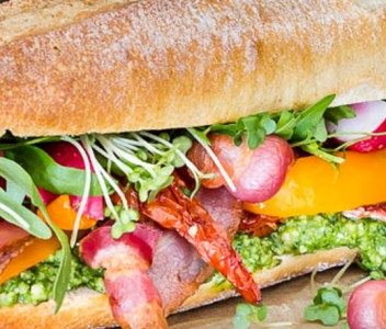 spoiltpig - Bacon recipe - Bacon and Watercress Pesto Sandwich