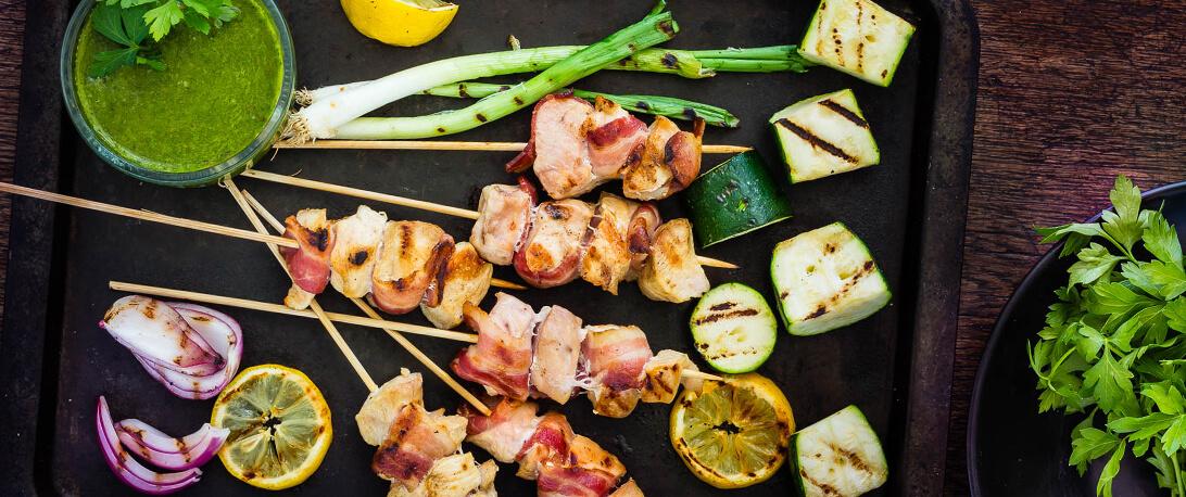 spoiltpig - Bacon recipe - Chicken Bacon Skewers