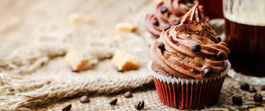 spoiltpig - Bacon recipe - Chocolate and maple spoiltpig bacon cupcakes