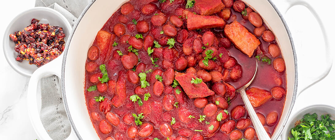 spoiltpig - Gammon recipe - Five spice beetroot and spoiltpig gammon stew