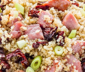 spoiltpig - Gammon recipe - Gammon and sundried tomato quinoa