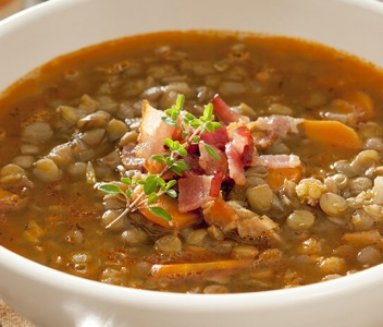 spoiltpig - Recipe header - Bacon and red lentil soup