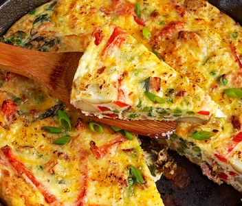 spoiltpig - Recipe header - Bacon and cheese Gluten Free fritatta