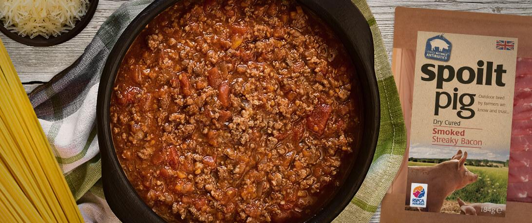 spoiltpig - Recipe header - Spaghetti bolognese