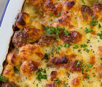spoiltpig - Bacon recipe - Bacon gnocchi bake