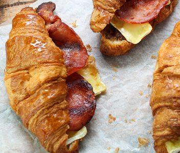 spoiltpig - Bacon recipe - Brie bacon croissant